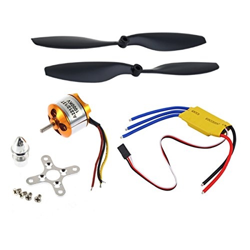 A2212 1000KV Brushless Motor w/30A Brushless ESC+1045 Propeller for DJI F450 550 Aluminum Alloy plastic multicolored, by LC Prime