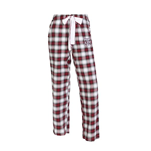 College Concepts NCAA Womens-Forge -Flannel Paid Pajama Pants-Texas A&M Aggies-Large