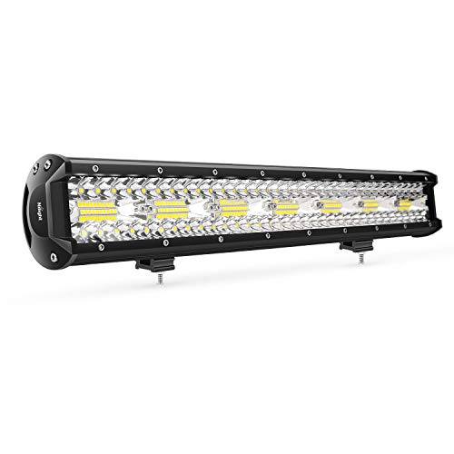 Nilight 18024C-A 20Inch 420w Triple Row Flood Spot Combo 42000LM Bar Driving Boat Led Off Road Lights for Trucks,2 Years Warranty