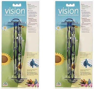 (2 Pack) Vision bluee Perch 2 Perches Each