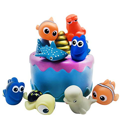 Finding Nemo Birthday Party (Cake Toppers Picks for Kids Birthday Party, Baby Shower Cake Decorations (Finding Nemo 8)