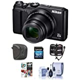 Nikon Coolpix A900 Digital Point & Shoot Camera Black - Bundle 16GB SDHC Card, Camera Case, Cleaning Kit, Card Case, Pc Software Package