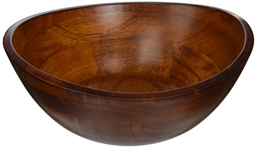 - Lipper International 293 Cherry Finished Wavy Rim Serving Bowl for Fruits or Salads, Matte, Small, 7.5