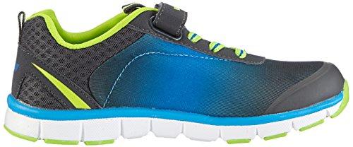 Lico Flow VS Jungen Sneakers Schwarz (anthrazit/blau/lemon)