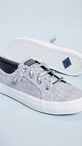 Sperry Sneaker Top Women's Sider Novelty Crest Vibe Silver Metallic F0RTFSqBZ