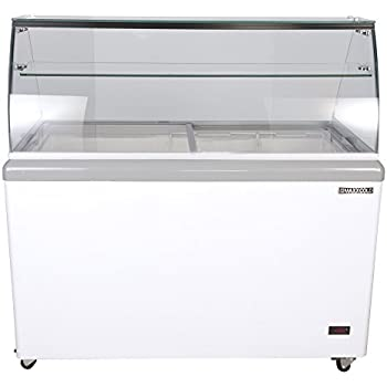 Maxx Cold 8 Flavor 14 cu ft Commercial Ice Cream Dipping Cabinet Freezer