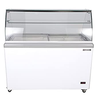 Merveilleux Maxx Cold 8 Flavor 14 Cu Ft Commercial Ice Cream Dipping Cabinet Freezer