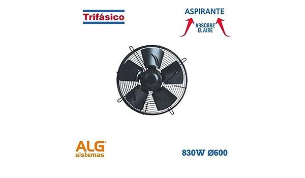 Ventilador frigorífico aspirante trifásico VMF-600A/6T: Amazon.es ...