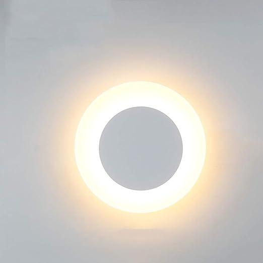 Amazon.com: Lámpara de pared LED redonda de acrílico mate ...