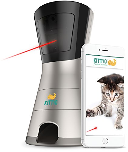Kittyo: Wi-Fi HD Pet Camera, 2-Way Audio, Video Recording, Treat Dispenser and Laser Pointer