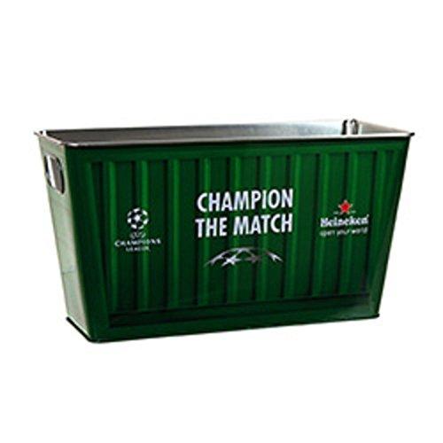 Heineken Green Painted Metal Rectangular Beer Ice Bucket (Green Ice Bucket)