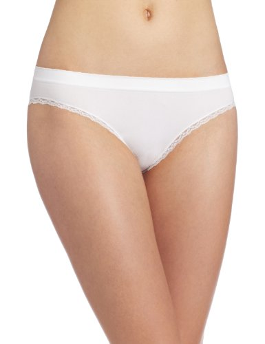 (Barely There Women's Custom Flex Fit Cheeky Panty, White,)