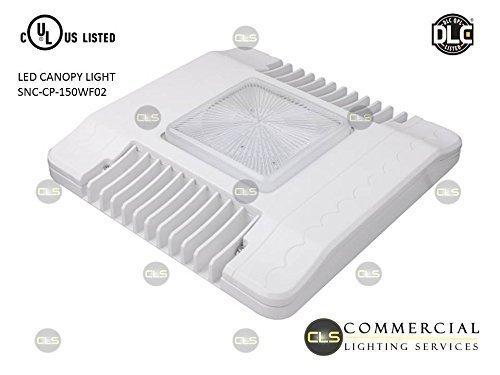 100 Watt LED Commercial Canopy Gas Station Light,DLC / UL Rated, Warehouse, Power Savings 72% Power Reduction.