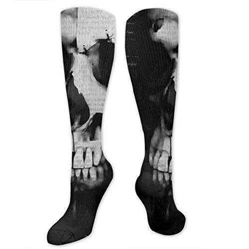 Compression Socks for Women Men Nurses Runners - Best Medical Stocking for Travel, Maternity, Running, Athletic, Varicose Veins - Creepy Gothic Halloween Horror Scary Spooky