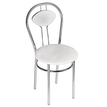 Chaise de Salle à Manger Confortable - Tiziano Plus - Couleur: Blanc BSD