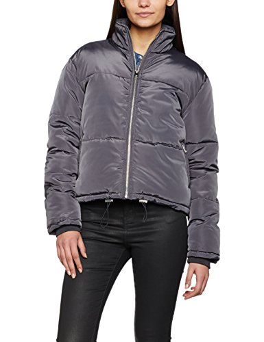 Look Puffer Oscuro Mujer Gris Short Chaqueta Para Padded Chapel New OIdRR