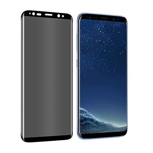 Galaxy S8 Plus Privacy Screen Protector, YCFlying S8 Plus Premium [3D Curved] [Case Friendly] [Anti-Scratch] 9H Hardness Tempered Glass Film Screen Protector for Samsung Galaxy S8 Plus (Black)