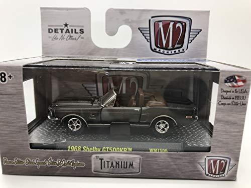 Shelby Black Matte - M2 Machines Titanium 1968 Shelby GT500KR 1:64 Scale WMTS06 16-15 Matte Grey/Black Details Like NO Other! Over 42 Parts 1 of 6800