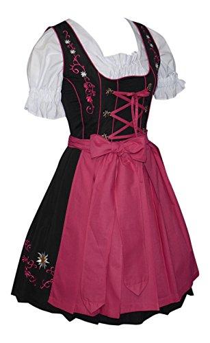 Edelweiss Creek 3 piece short German Dirndl Dress Pink (4) (German Dirndl)