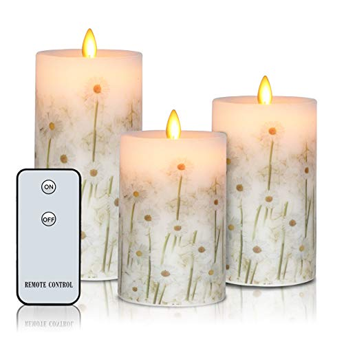 Flameless Candles Real Wax Battery Operated Candles H4
