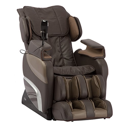Titan Ti-7700R Electric Full Body Massage Chair, Computer Body Scan, Outer Shoulder Massage, Hip & Seat Vibration, L-track roller system (Brown)