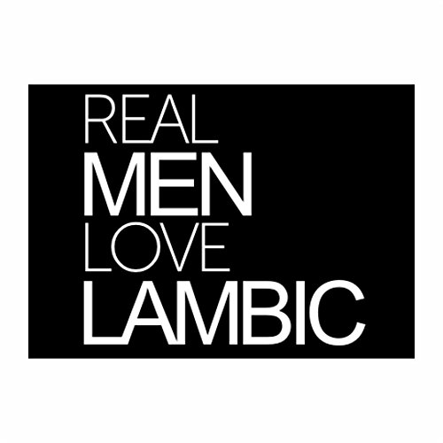 teeburon-real-men-love-lambic-pack-of-4-stickers