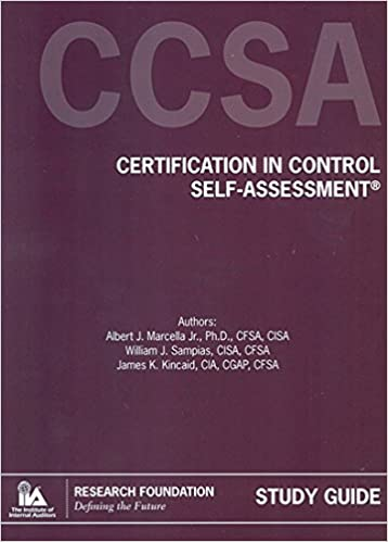 Amazon.in: Buy Certification in Control Self-Assessment (CCSA®) on ...