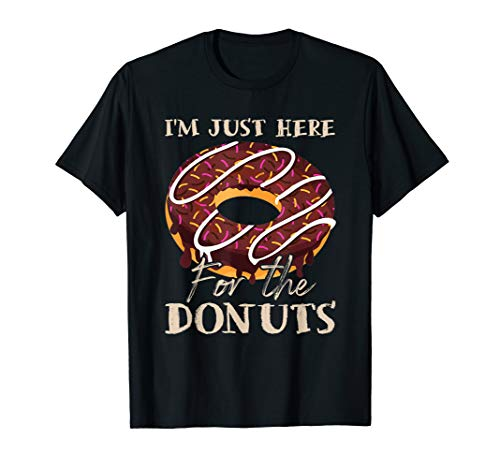 Vintage I'm just here for the Donuts shirt Donuts lover gift