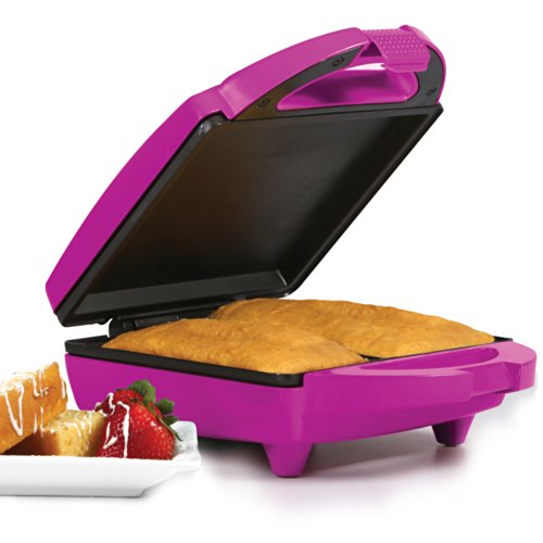 Holstein Housewares HF-09011M Fun Pound Cake Maker - Magenta Pop Beauty Lid Collection