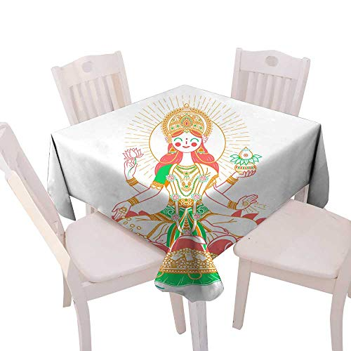 Used, longbuyer Jacquard Tablecloth Icon Godess Laxmi Square for sale  Delivered anywhere in USA