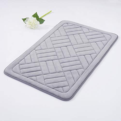 Patio Brick Pattern - Grapy Prague Brick Pattern Non-Slip Latex Backing Coral Fleece Soft Doormat for Patio Front Door Absorbent Kitchen Bathroom Rug Mat Indoor Entry Way Rug Floor Runner Carpet Ash Grey 15.7