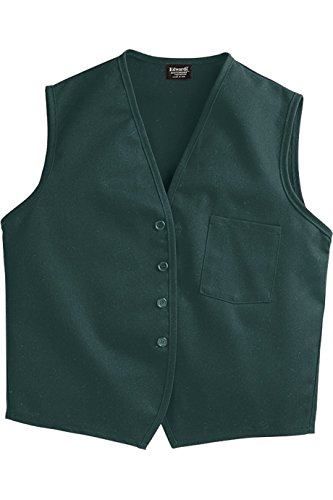 SixStarUniforms Unisex Work Vest with Breast Pocket Hunter Green XX Large