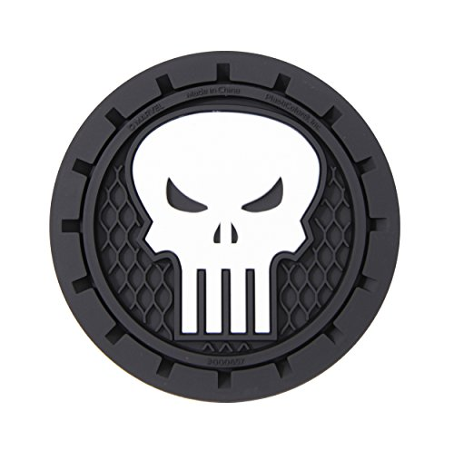 Plasticolor 000657R01 Marvel Punisher Cup Holder Coaster (Cup Holder Coaster)