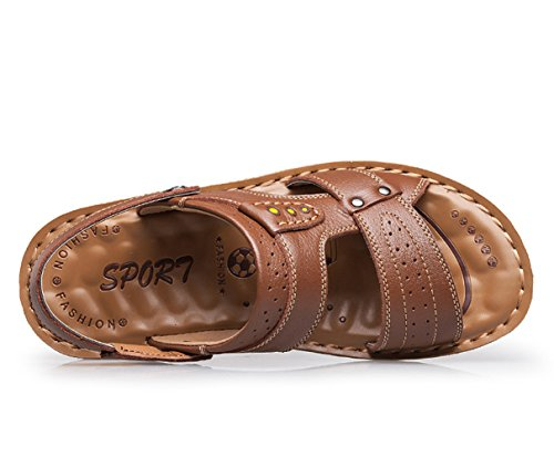 Icegrey Hommes Sandales Ouvertes Tongs de Plage Chaussons Antiderapant Marron 41