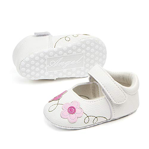 Hook Toddler Shoes PLOT First Walker Infant white Shoe and Girls Floral LurrylyKids Casual Loop for wq4Oq