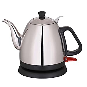 Wollin Electric Kettle 1 L | Durable & Rust Proof Stainless Steel Design | Ergonomic Handle With Curved Gooseneck For Spill Free Pouring | Fast & Cordless Teapot For Coffee, Boiling Water, Tea & More
