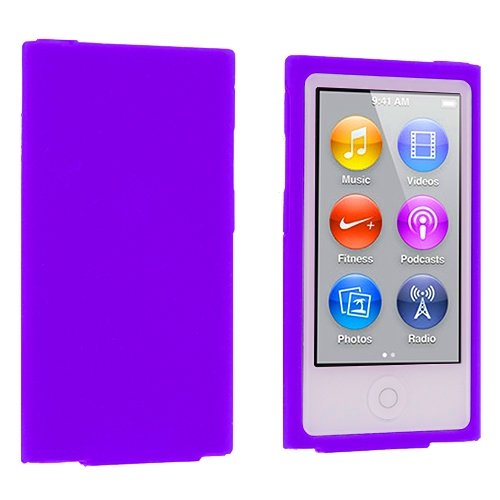 (ANiceSeller(TM) Color Silicone Soft Rubber Gel Skin Case Cover for iPod Nano 7th Generation 7G 7 (Purple))