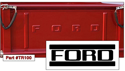 1953-1972 FORD F100 STEPSIDE and FLARESIDE TAILGATE LETTERS KIT Your Choice Of BLACK, WHITE Or CHROME LETTERS