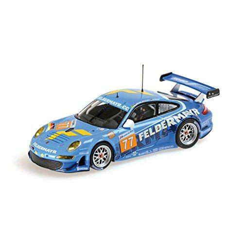 Minichamps 410106977 1:43 Scale 2010 Porsche 997 GT3 RSR 77 Le Mans Die Cast Model