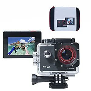 [Bonus Case] Simbans Okomax 4K WIFI Sports Action Camera Ultra HD Waterproof DV Camcorder 12-MP 170 Degree Wide Angle, Best gift for Young Players (Kids, Teenagers, Adults)
