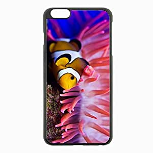 iPhone 6 Plus Black Hardshell Case 5.5inch - sea clown fish sea anemones water Desin Images Protector Back Cover