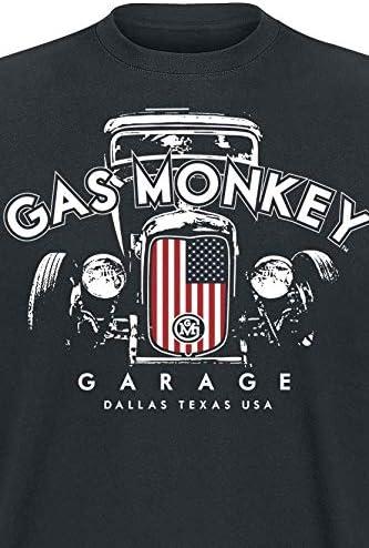 Gas Monkey Garage T-Shirt Patriotic Hot Rod 2 Black-S: Amazon.es ...