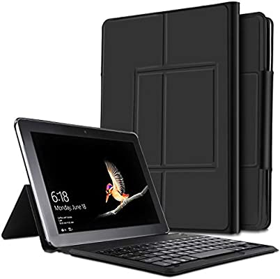 IVSO Teclado Estuche para Surface Pro 7/Surface Pro 6 (QWERTY English), Slim Stand Cover Funda con Wireless Teclado para Surface Pro 7/6/2015/4, Negro: Amazon.es: Electrónica