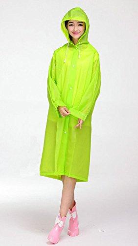 Pioggia Donne Laozan Per Mela Cappuccio Cappotto Impermeabile Indumenti Impermeabili Di Verde Con UMqjLpGzSV