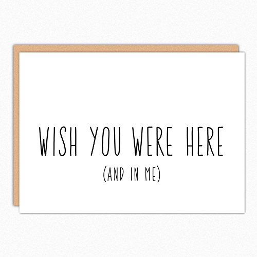 Missing You Card. Wish You Were Here. Miss You Boyfriend Gift. Long Distance Relationship Card. Naughty Thinking of You. Military Care Package. (Long Distance Care Package)