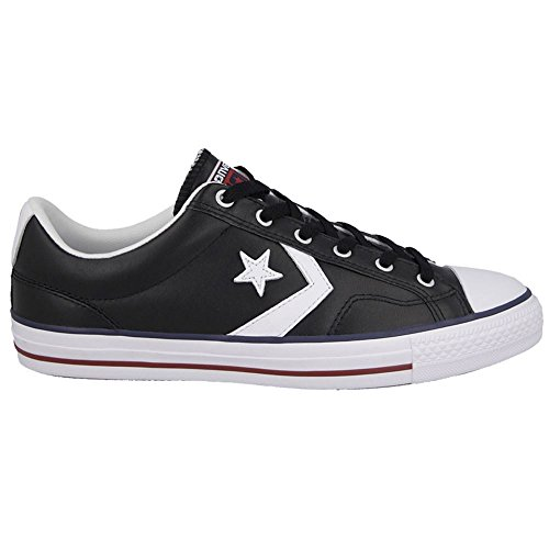 Converse Mens Star Player Ev Black White Leather Trainers...