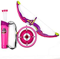 Toysery Kids Toy Bow Arrow Archery Set With Arrow Holder With Target Stand Led Light Up Function Hunting Series Toy For Girls Pink Buy Online At Best Price In Choose a bow stand from lancaster archery supply and select from a variety of bowstands, bow holders www amazon sa