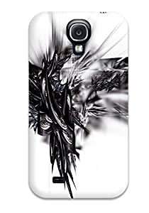 Faddish Phone White Abstract Case For Galaxy S4 / Perfect Case Cover