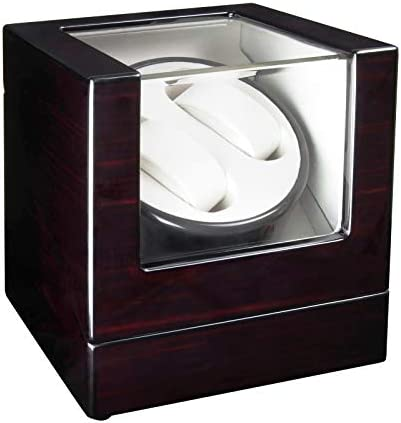 TIMOG Double Automatic Watch Winder with Quite Japanese Motor Wooden Watch Winders for Automatic Watches 4 Rotation Modes WeeklyReviewer