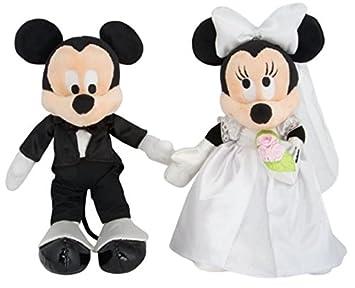 Mickey And Minnie Wedding.Disney Parks Mickey Minnie Mouse Wedding Plush Set